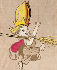 Walt Kelly (attributed) - Peter Wheat Color Production Art (Bakers Associates, c. 1948-50)