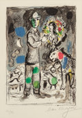 Prints & Multiples, Marc Chagall (1887-1985). Paysan au bouquet, 1968. Lithograph in colors on Arches paper. 12-7/8 x 9-1/8 inches (32.7 x 2...