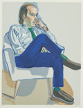 Fine Art - Work on Paper:Print, Alice Neel (1900-1984). Portrait of Hartley Stockton Neel,1981. Lithograph in colors on wove paper. 28-1/2 x 22 inches ...