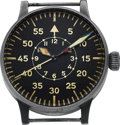 Timepieces:Wristwatch, Laco Vintage Type-B German Aviator's Watch FL 23883. ...