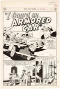 "Original Comic Art:Splash Pages, George Papp Real Fact Comics: ""I Guard an Armored Car""Splash Page Original Art (DC Comics, 1948)...."
