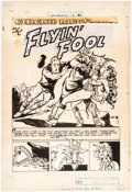 Original Comic Art:Splash Pages, Bob Powell Joe Palooka #9 Splash Page Original Art (HarveyComics, 1947)....