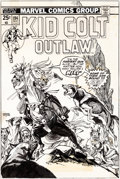 Original Comic Art:Covers, Gil Kane Kid Colt Outlaw #194 Cover Original Art (MarvelComics, 1975)....