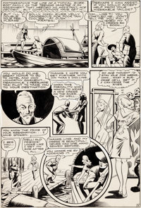 Matt Baker Crown Comics: Ace of the Newsreels Story Page 2 Original Art (Harvey Comics & McCombs Publ., 1946)...