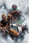 Original Comic Art:Covers, Gabriele Dell'Otto Uncanny Avengers #1 Variant CoverPainting Original Art (Marvel, 2015)....