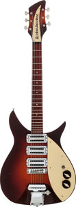 Musical Instruments:Electric Guitars, 1958 Rickenbacker 325 Sunburst Semi-Hollow Body Electric Guitar, #V86....