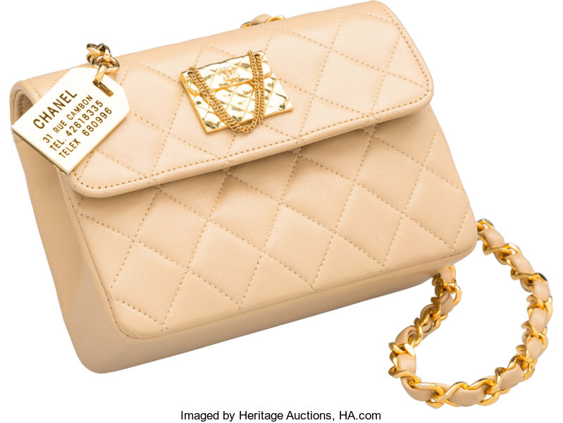 ac01f877798126 Luxury Accessories:Bags, Chanel Beige Quilted Lambskin Leather Flap Bag.  Very GoodCondition.