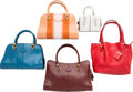 "Luxury Accessories:Bags, Tod's Set of Five; Multicolor Leather Tote Bags. Very GoodCondition. 14"" Width x 9"" Height x 6.5"" Depth. 11"" Width x 7"" H...(Total: 5 )"