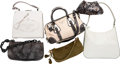 """Luxury Accessories:Bags, Prada Set of Six; Multicolor Leather, Suede & Sequins Bags. Good to Very Good Condition. 12"""" Width x 9"""" Height x 2.5"""" ... (Total: 6 Items)"""