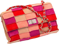 "Chanel Multicolor Patchwork Suede Medium Reissue Flap Bag Very Good to Excellent Condition 10"" Wi"