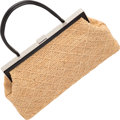 "Luxury Accessories:Bags, Chanel Beige Woven Fabric Shoulder Bag. Very Good Condition. 15"" Width x 8"" Height x 4"" Depth. ..."