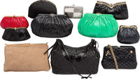 "Judith Leiber Set of Eleven; Multicolor Ayers Snakeskin, Satin & Suede Bags Good Condition 13"" Wi"