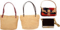 """Luxury Accessories:Bags, Fendi Set of Five; Multicolor Ponyhair, Woven Fabric & Suede Bags. Very Good to Excellent Condition. 10"""" Width x 5.5"""" Heig... (Total: 4 )"""