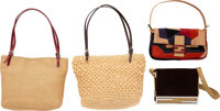 "Fendi Set of Five; Multicolor Ponyhair, Woven Fabric & Suede Bags Very Good to Excellent Condition 10"" Widt..."