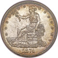 Trade Dollars, 1874-CC T$1 MS61 NGC....