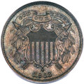 Patterns, 1863 2C Two Cents, Judd-312, Pollock-377, R.4, PR65 Brown PCGS....