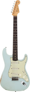 Musical Instruments:Electric Guitars, 1962 Fender Stratocaster Sonic Blue Solid Body Electric Guitar, Serial # 87428....