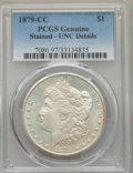 Morgan Dollars, 1879-CC $1 -- Stained -- PCGS Genuine. Unc Details....