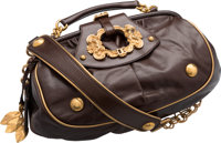 "Dolce & Gabbana Brown Leather Shoulder Bag Very Good Condition 11.5"" Width x 6.5"" Height x 3"" Depth&a..."