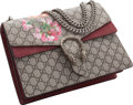 "Luxury Accessories:Bags, Gucci Blooms Monogram Canvas Medium Dionysus Bag. ExcellentCondition. 12"" Width x 8"" Height x 4"" Depth. ..."