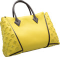 "Luxury Accessories:Bags, Louis Vuitton Yellow Veau Cachemire Leather & Tuffetage W Bag. Very Good to Excellent Condition. 13.5"" Width x 10"" Hei..."