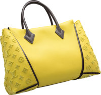 Louis Vuitton Yellow Veau Cachemire Leather & Tuffetage W Bag Very Good to Excellent Condition 13