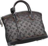 Louis Vuitton Limited Edition Noel 2012 Collection Black Embroidered Monogram Nylon Mesh Lockit Bag Very Good t