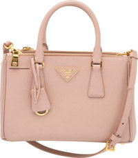 """Prada Beige Saffiano Leather Mini Lux Tote Bag Excellent Condition 10.5"""" Width x 6.5"""" Height x 4.5"""" Depth"""