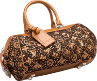 Louis Vuitton Limited Edition Brown Leather & Wool Monogram Sunshine Express Baby Bag Very Good to Excellent Co