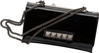 """Valentino Black Patent Leather Evening Bag Very Good to Excellent Condition 9.5"""" Width x 5.5"""" Hei"""