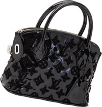 Louis Vuitton Limited Edition Noel 2012 Collection Black Monogram Vernis Leather Lockit Bag Very Good to Excell