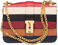 """Valentino Multicolor Leather Flap Bag Very Good to Excellent Condition 9.5"""" Width x 6.5"""" Height x 2.5"""" De..."""