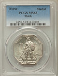 1925 Medal Norse, Thick Planchet, MS63 PCGS. PCGS Population: (278/819). NGC Census: (234/631). MS63. Mintage 31,750...