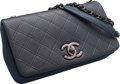 """Luxury Accessories:Bags, Chanel Navy Blue Leather Flap Bag. Excellent Condition. 10""""Width x 6"""" Height x 2"""" Depth. ..."""