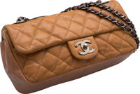 """Chanel Brown Quilted Suede Flap Bag Very Good to Excellent Condition 10"""" Width x 5.5"""" Height x 3"""""""