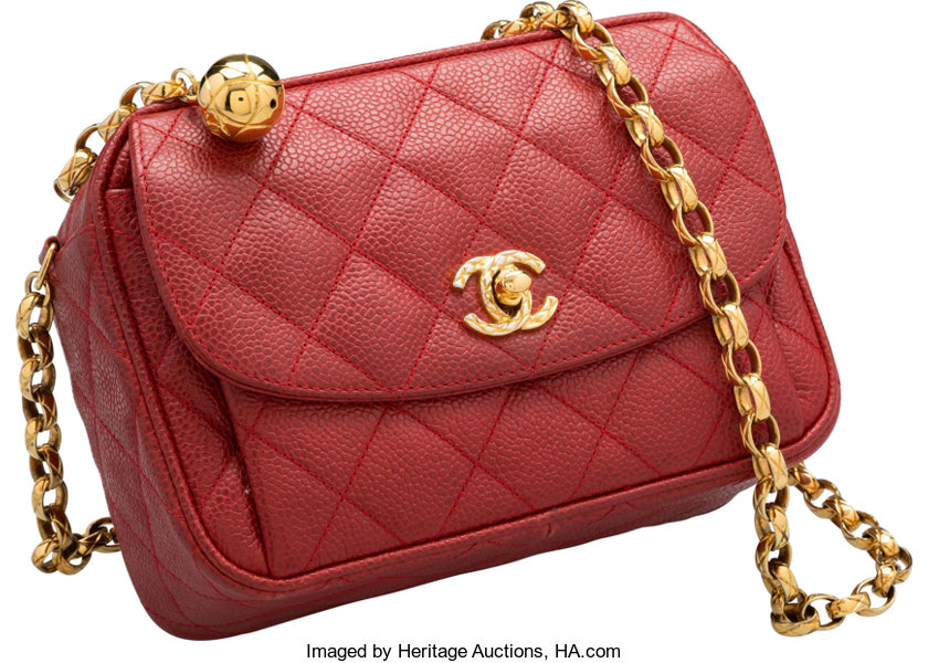 ee0419eb79a Luxury Accessories Bags, Chanel Red Quilted Caviar Leather Camera Bag. Very  GoodCondition.