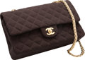 "Luxury Accessories:Bags, Chanel Brown Quilted Wool Medium Double Flap Bag. Excellent Condition. 10"" Width x 6"" Height x 2.5"" Depth. ..."