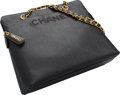 "Luxury Accessories:Bags, Chanel Black Caviar Leather Tote Bag. Excellent Condition. 12"" Width x 9.5"" Height x 4"" Depth. ..."