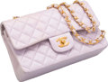 "Luxury Accessories:Bags, Chanel Purple Quilted Lambskin Leather Medium Double Flap Bag.Good Condition. 9"" Width x 5.5"" Height x 2.5"" Depth...."