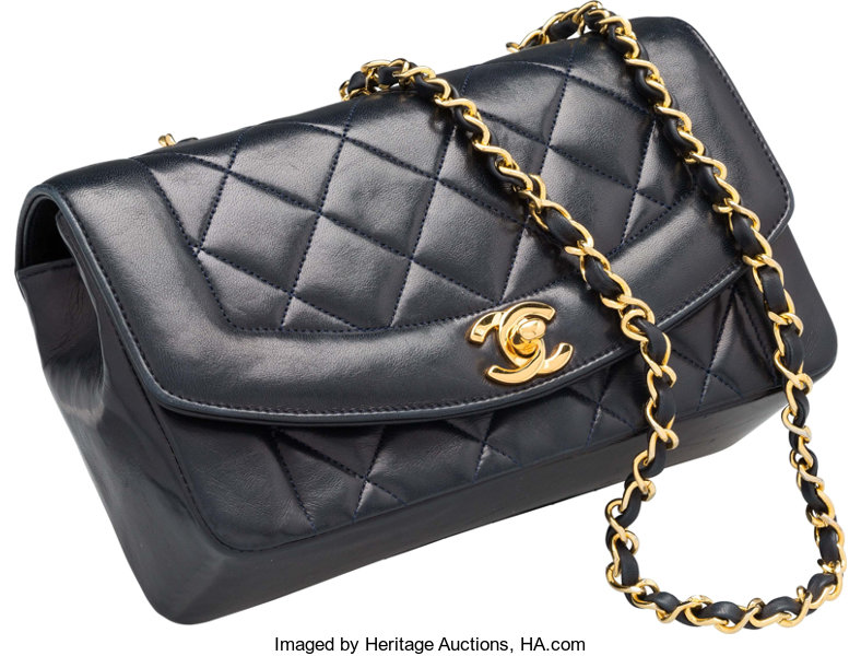 Very Good  Luxury Accessories Bags, Chanel Navy Blue Quilted Lambskin  Leather Flap Bag. 37e8bbaca5