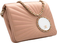 """Chanel Pink Sundial Quilted Satin Evening Bag Very Good Condition 6.5"""" Width x 5"""" Height x 2"""" Depth&l..."""
