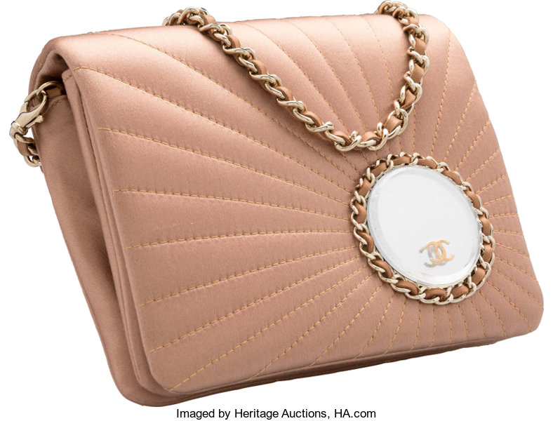 e7449b983b6d24 Chanel Pink Sundial Quilted Satin Evening Bag. Very Good Condition. | Lot  #16059 | Heritage Auctions