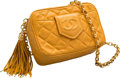 "Luxury Accessories:Bags, Chanel Yellow Quilted Lambskin Leather Camera Bag. Very GoodCondition. 7"" Width x 5"" Height x 3"" Depth. ..."