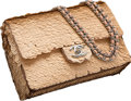 "Luxury Accessories:Bags, Chanel Pink Satin & Pailletes Small Flap Bag. ExcellentCondition. 8"" Width x 5.5"" Height x 2.5"" Depth. ..."