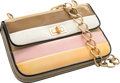 """Luxury Accessories:Bags, Chanel Beige, Pink & Yellow Patent Leather Flap Bag. Good to Very Good Condition. 9"""" Width x 5.5"""" Height x 2"""" Depth. ..."""