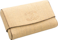 "Chanel Natural Woven Raffia Clutch Bag Excellent Condition 9"" Width x 5.5"" Height x 2"" Depth"