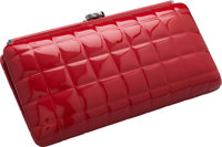 """Chanel Red Patent Leather Clutch Bag Excellent Condition 9.5"""" Width x 5"""" Height x 2"""" Depth"""