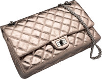 074f91259b7d50 Chanel Metallic Pewter Quilted Distressed Lambskin Leather Medium Reissue Flap  Bag Very Good 11