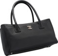 "Luxury Accessories:Bags, Chanel Black Leather Cerf Tote Bag. Excellent Condition.12"" Width x 7"" Height x 5.5"" Depth. ..."