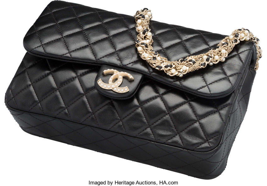d9e046ecfc84 Very Good toExcellent; Luxury Accessories:Bags, Chanel Black Quilted  Lambskin Leather Flap Bag.